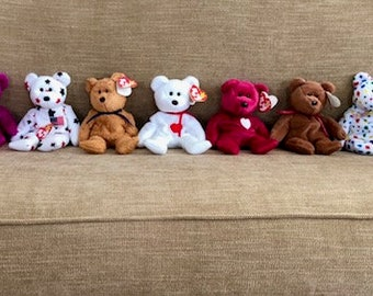 TY Beanie Baby's LOT 12 Bears - Beanie Babies - Beanie Baby Collection - Childrens toys - Toys