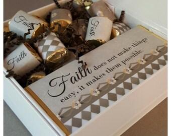 Faith Chocolate Candy Gift Box / Favor Box / Inspiration