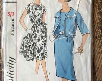 1960s Vintage Original Simplicity 3887 Slenderette Sewing Pattern