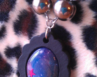 Cameo Necklace - Cosmic Blue