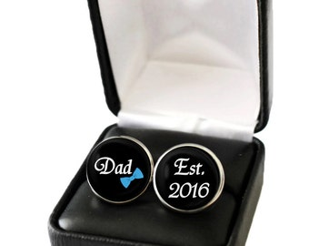 Gender Reveal Idea, Gender Reveal Party, Gender Reveal Gift for New Dad to Be, Baby Announcement to Husband, New Dad Gift, Dad Cufflink
