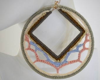 Diamond wish Crochet Earrings