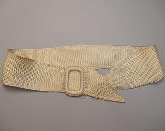 Antique Edwardian Silk Twill Ladies belt