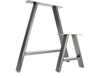 2 x Table Legs - Dining 'A' Pedestals in Industrial Steel