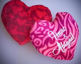 Personalized heart plush, Valentine plush, Personalized Valentine Heart plush, heart plush, customized heart plush, kids, popular gift