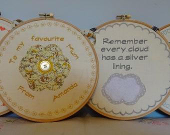 Embroidery hoop gift