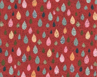 Moda Mon Ami 30414 14 Water Drops On Red By The Yard