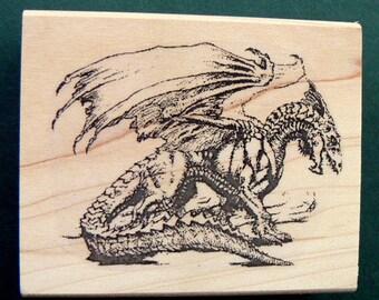 Dragon rubber stamp  P3