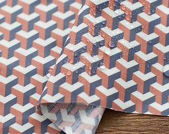 Geometric Laminated Cotton Fabric, Geometric Laminates - By the Yard 93448