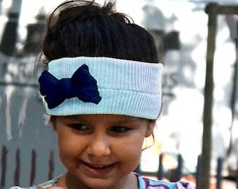 Earmuffs light blue, gift girl, handmade, headband knitwear, headbands winter, sustainable fashion, sustainable accessories, Earmuff child
