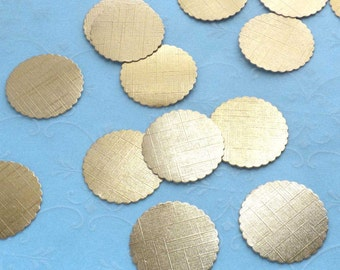 Dollhouse Miniature Supplies - 25 GOLD Foil Textured Bakery Boards for Dollhouse miniature Cakes and Bakery Treats