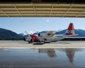 Poster, Many Sizes Available; Coast Guard Hc-130 Hercules  Juneau, Alaska