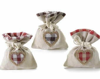 Fabric Bags Gift Pouches Party Favor Set of 15