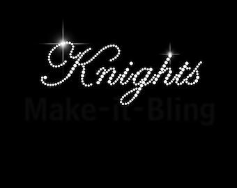 DIY Rhinestone Iron On Heat Transfer Go Knights Baby! #1 Team Name