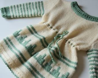 Hand knit toddler dress, girls tunic dress, long girls sweater