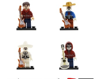 Pack 4 minifigure Coco film compatible lego Superheroes