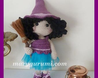 Crochet, witch, Amigurumi doll