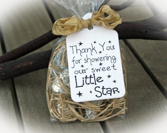 Twinkle Twinkle little star Baby Shower Favor | Twinkle Twinkle Little Star Shower | Baby Shower Favor | DIY Kits/Ivory Tag/Ribbon
