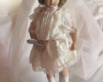 """The Hamilton Collection """"Playing Bride"""" Porcelain Doll"""