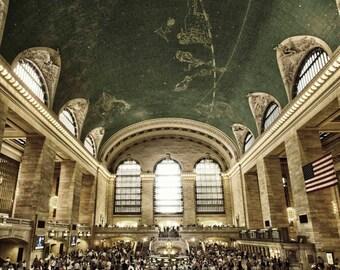 New York Photography - Grand Central Station, NYC photo,  Fine Art Photography, New York Architecture, 8x10 Photo, Manhattan, New York
