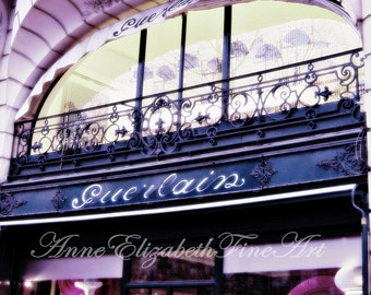 Paris Photography-Paris In Pink-Guerlain Boutique-Pink-Fashion-Preppy Dorm Decor-Paris Decor-Fashionista-Vintage Paris Print-French Chic Art