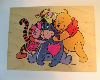 "Rubber Stamps "" Hugs all Around"" For card making  Slightly used good condition"
