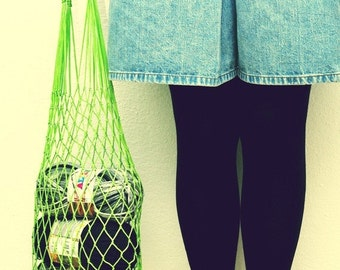 Eco friendly Green Net Bag - Go Green, beach accessories