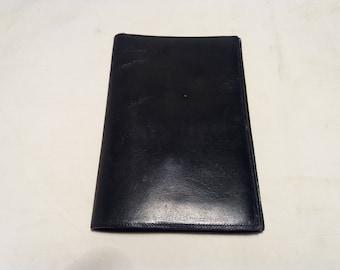 Vintage Black Leather Men's Wallet - NEW