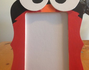 Hand painted Elmo inspired wooden picture frames