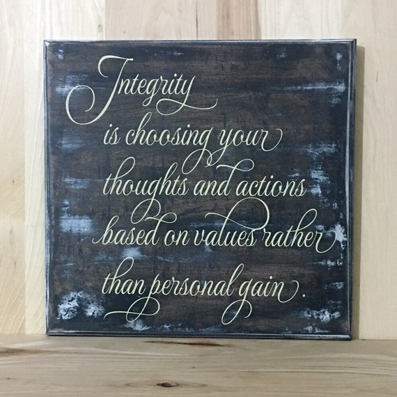 Wall Hanging Lesson Plan: Integrity Custom Wood Sign Life Lesson Wall Decor Positive