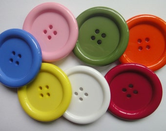 Extra Large 10 pcs 7color  Resin shirt Sewing Buttons 50mm 80L  2 in.  crafts DIY cardmarking scrapbook 4-holes chooses color