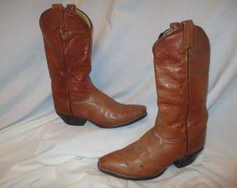 Tony Lama distressed western boots