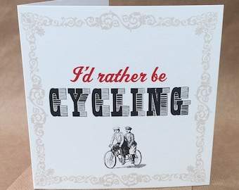 Humourous retro styled greetings card for bike lovers/cyclists - any occasion