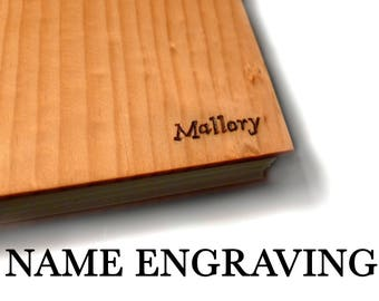 Wooden Notebook Engraving Journal Initials Personalized Journal Engraved Notebook Engraved Journal Gift for Writer Engraved Sketchbook