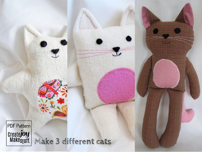 Make 3 Cats Sewing Pattern Amp Tutorial Easy Simple