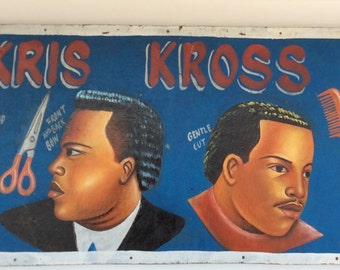 West African Barbershop Sign