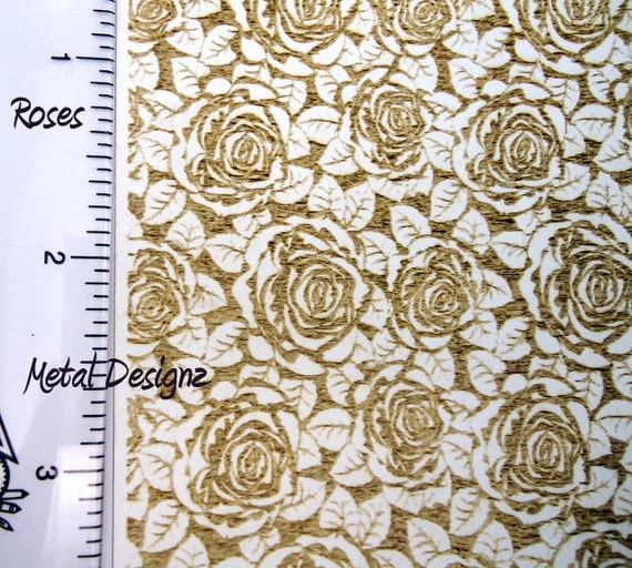 Laser Cut Texture Paper Rolling Mill Pattern Roses