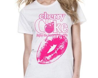 Coca Cola Cherry Coke Kiss Woman Printed T-shirt