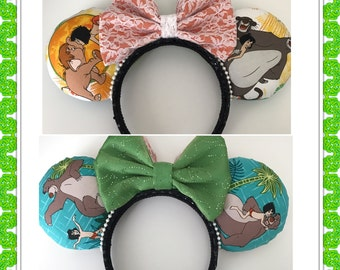 Reversible Jungle Book Disney Inspired Minnie/Mickey Mouse Ears