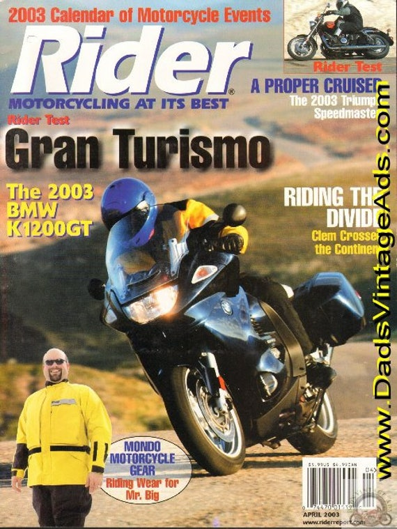 2003 April Rider Motorcycle Magazine Back-Issue #0304rdr