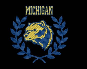 Michigan wolverines  football machine embroidery design