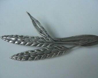 Guglielmo Cini Sterling Silver Sheaf of Wheat Brooch Pin Art Nouveau