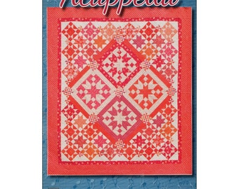 """Pattern """"Acappella"""" Quilt Pattern by Black Cat Creations (BCCACA) Paper Pattern Instructions"""