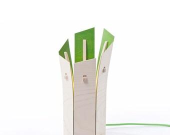 Colourful 'Leek' Table Lamp (green)