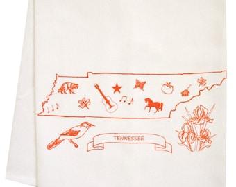 Tennessee organic  tea towel