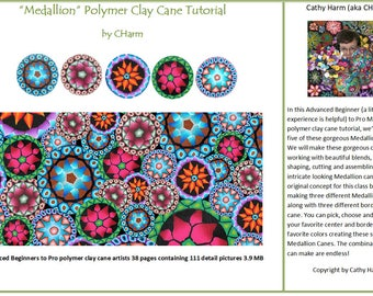 Medallion polymer clay tutorial by CHarm
