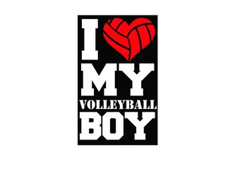 I Love My Volleyball Boy, Volleyball Mom, Digital file PNG and PSD
