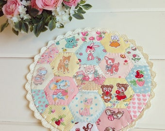a most lovely large hexie patchwork doily no. 2