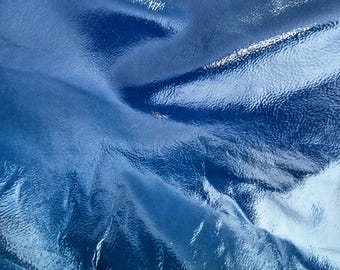 "Leather 10"" X 12""  Dark Denim Blue with Subtle Gloss Sheen"