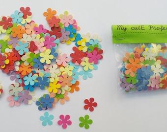 Confettis - 200 Flowers - Scrapbooking - Party confetti - Wedding confettis - Flower confettis - Multicolor confettis - Table confettis C1